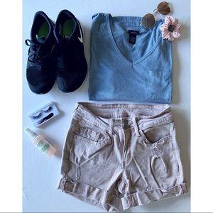 soft pink shorts